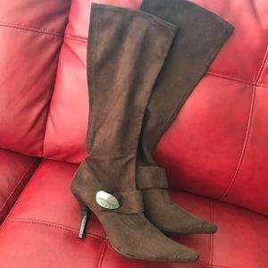 BCBG Chocolate Suede Boots
